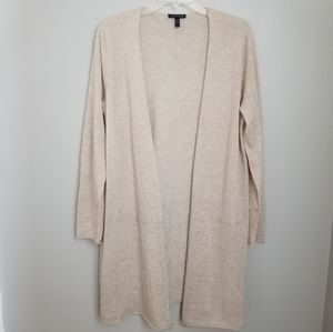 Eileen Fisher Alpaca Wool Blend Open Cardigan Sz L